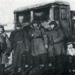 Артиллерийский полк 110-й сд на марше в районе Наро-Фоминска. Декабрь 1941 г.