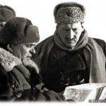 Генерал Ефремов ставит задачу командованию 1-й гв. мсд.