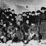 В районе г. Наро-Фоминска. Бойцы и командиры 1287-го стрелкового полка перед выходом на боевое задание. Декабрь 1941 г.