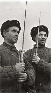 Ополченцы с винтовками Лебеля