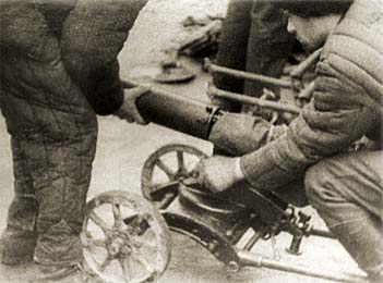 Ополченцы с пулемётом MG-08