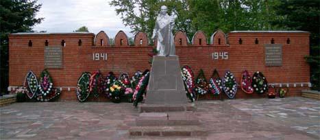 Братская могила воинов 33А в г. Тёмкино, Смоленской области