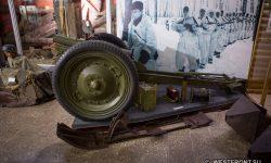 Лыжа для перевозки орудия в экспозиции Наро-Фоминского историко-краеведческого музея